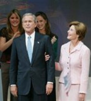 Bush wins re-election, focuses on agenda