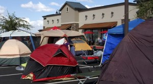 Free food draws campers to new Chick-fil-A