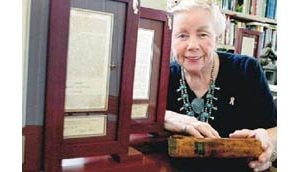 E.V. woman splits first-edition Book of Mormon