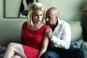 <p>Velvet (Alice Eve) and her lover Fred (Stanley Tucci) in a scene from 'Some Velvet Morning'</p>