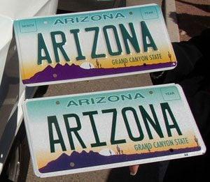 No more raised letters on Arizona plates