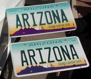 No more raised letters on Arizona plates