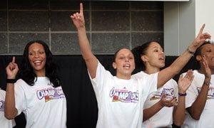 Mercury celebrate WNBA championship