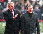 Bush, Schroeder denounce Iran nuclear aims
