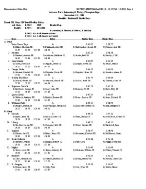 Div. II boys swimming and diving state championship results