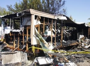 Mesa mobile home burns