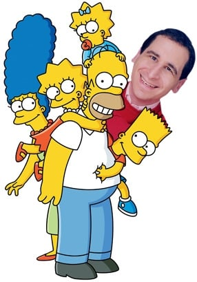 Mike Reiss with The Simpsons