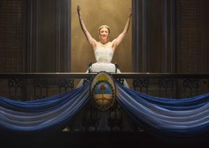 Caroline Bowman plays Evita