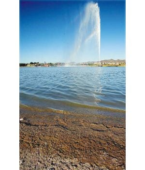 Algae befouls Fountain Hills lake