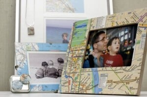 Re-style maps into souvenirs, decor