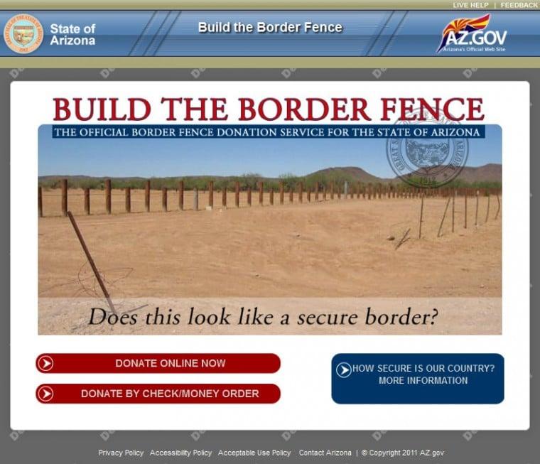 Border fence website