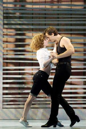 "<p>Jillian Mueller (Baby) and Samuel Pergande (Johnny) in the North American tour of ""Dirty Dancing — The Classic Story On Stage.""</p><p>[Photo courtesy of Matthew Murphy]</p>"