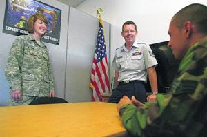 Tough economic times boost military recruitment