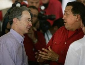 Venezuela's Chavez mends Colombia ties