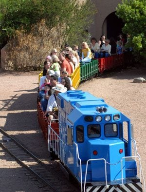My favorite: Railroad park trains family in fun