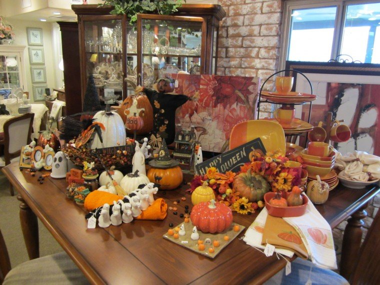 fall decor has just been put out for sale