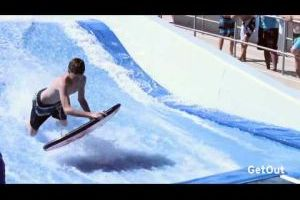Video: FlowRider Surf Machine at Rhodes Aquatics Complex