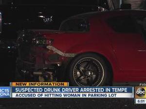 Drunk driver hits woman at Tempe Walmart