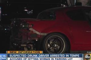 Drunk driver hits woman at Tempe Walmart