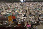 Hurricane Katrina evacuees at Houston Astrodome