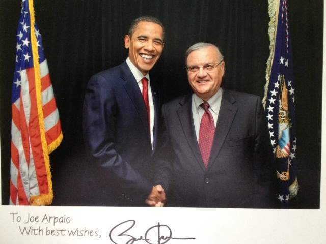 Barack Obama, Joe Arpaio
