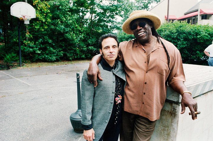 Nils Lofgren and Clarence Clemons