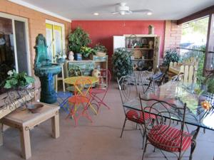 front porch of boutique