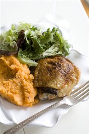 Food Healthy Stuffed Chicken Thighs