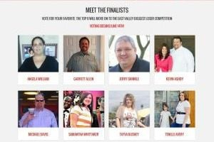 <p>This screen grab from EastValleyBiggestLoser.com shows the contest's finalists.</p>
