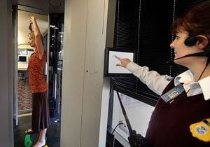 Sky Harbor screening device bares it all