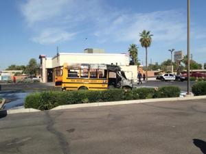 Mesa school bus fire