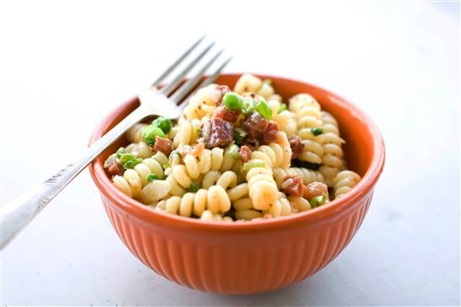 Food-Carbonara Pasta Salad