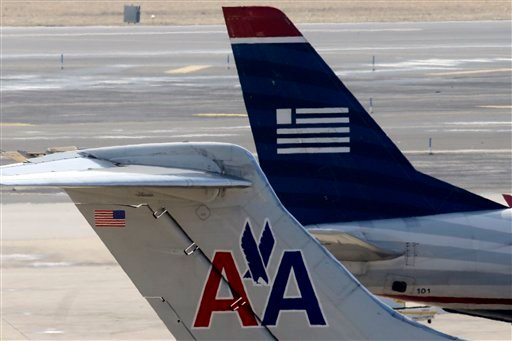 APTOPIX AMR US Airways Merger