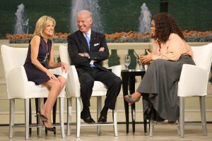 Biden shushes wife after slip of tongue