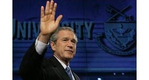 Bush: Democracy taking hold in Middle East