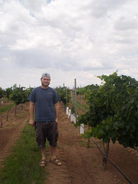 Kief-Joshua in his vineyard