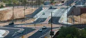 Drivers adapting to new east Mesa traffic feature