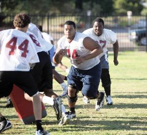 Mountain Pointe offensive line
