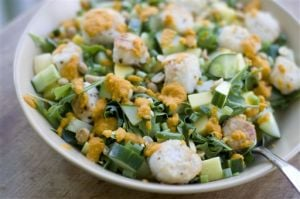 Food Healthy Scallop Salad
