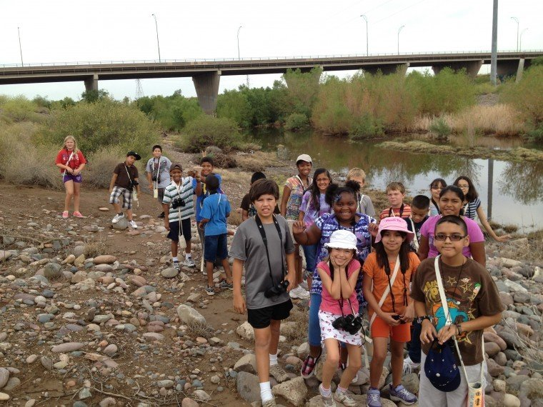 SRP helps students explore nature at Audubon Center