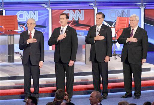 Ron Paul, Rick Santorum, Mitt Romney, Newt Gingrich
