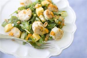 Food Healthy Scallop Salad