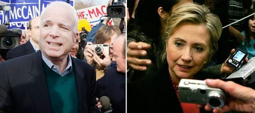 McCain, Clinton look ahead after New Hampshire wins