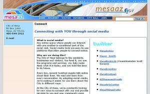 Mesa all a Twitter with use of social media