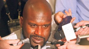 Shaq takes crash course in broadcasting