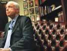 Busy McCain expresses views on Rumsfeld, immigration, Iraq war