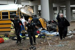 Ala. bus crashes nose-first; 3 teens die