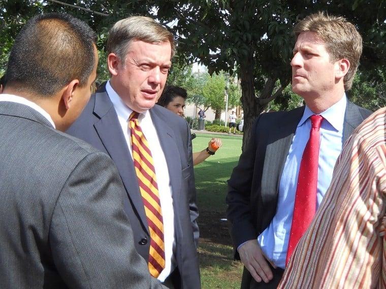 ASU president Michael Crow, Phoenix mayor Greg Stanton