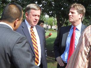 ASU president Michael Crow, Phoenix mayor Greg Stanton
