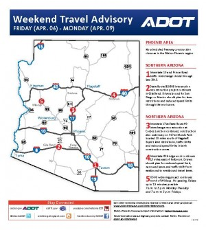 Weekend Freeway Map ADOT